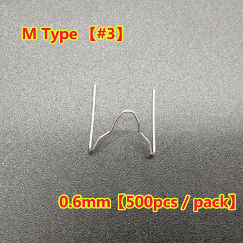 500Pcs Stapler Staples For Plastic Welder//Car Bumper Repair Silver Tool Staples