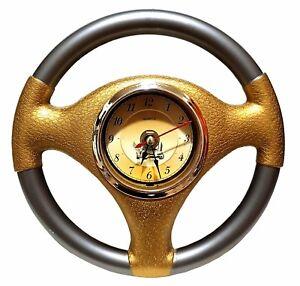 Top Autolenkrad Auto Lenkrad Uhr Wanduhr Deko Dekoration Buro