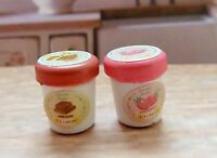Sylvanian Families Spares 2 X Small Ice Cream Tubs Combined P+p (sy47)