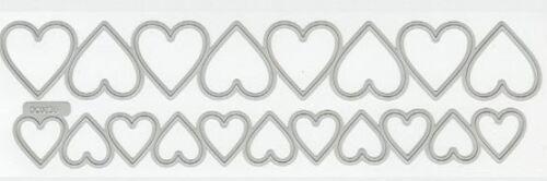 Valentine DC0236 Lifestyle Crafts QuicKutz Cutting Dies HEART PUNCHES Love