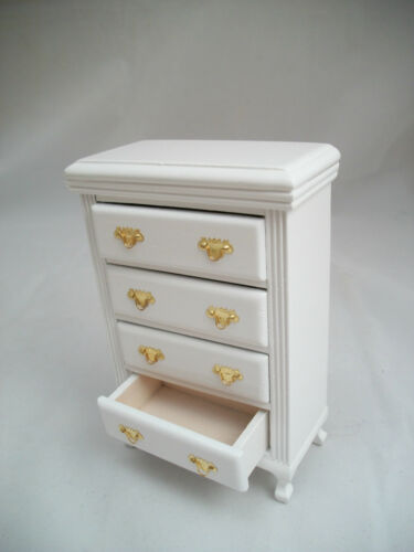 White Dresser T5672 Chest of Drawers miniature dollhouse furniture 1//12 scale