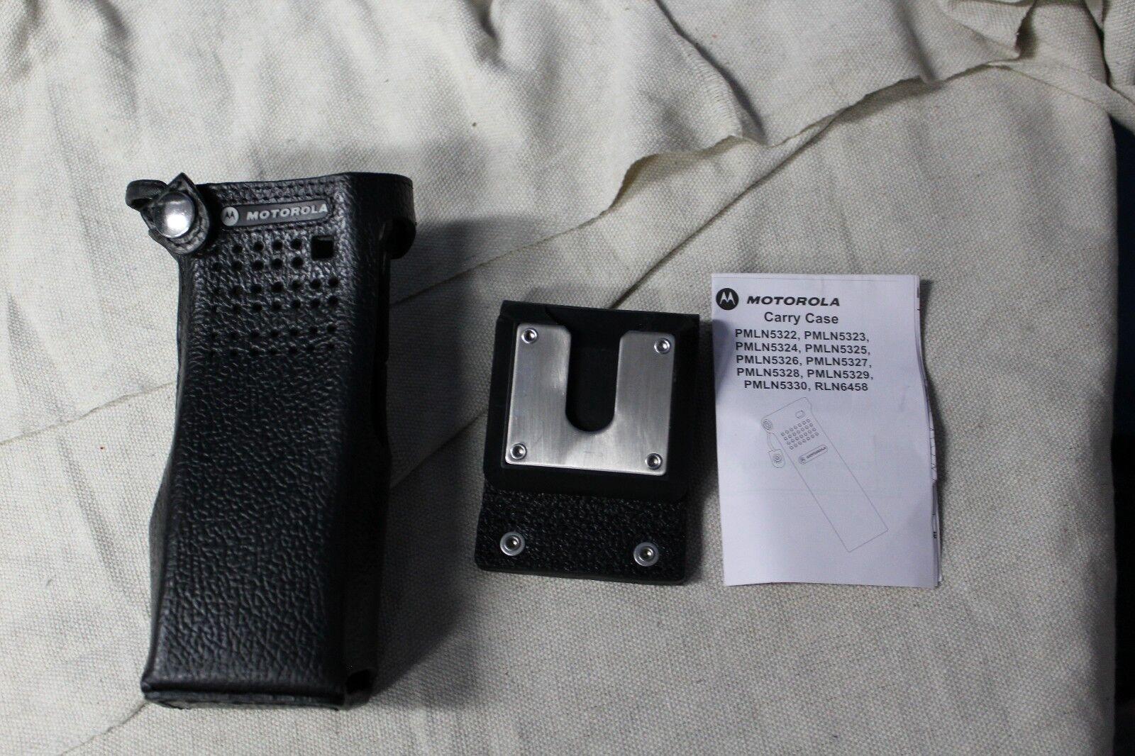 New Motorola  OEM PMLN5020C Hard Leather Case w// 3 in swivel belt loop FREE SHIP