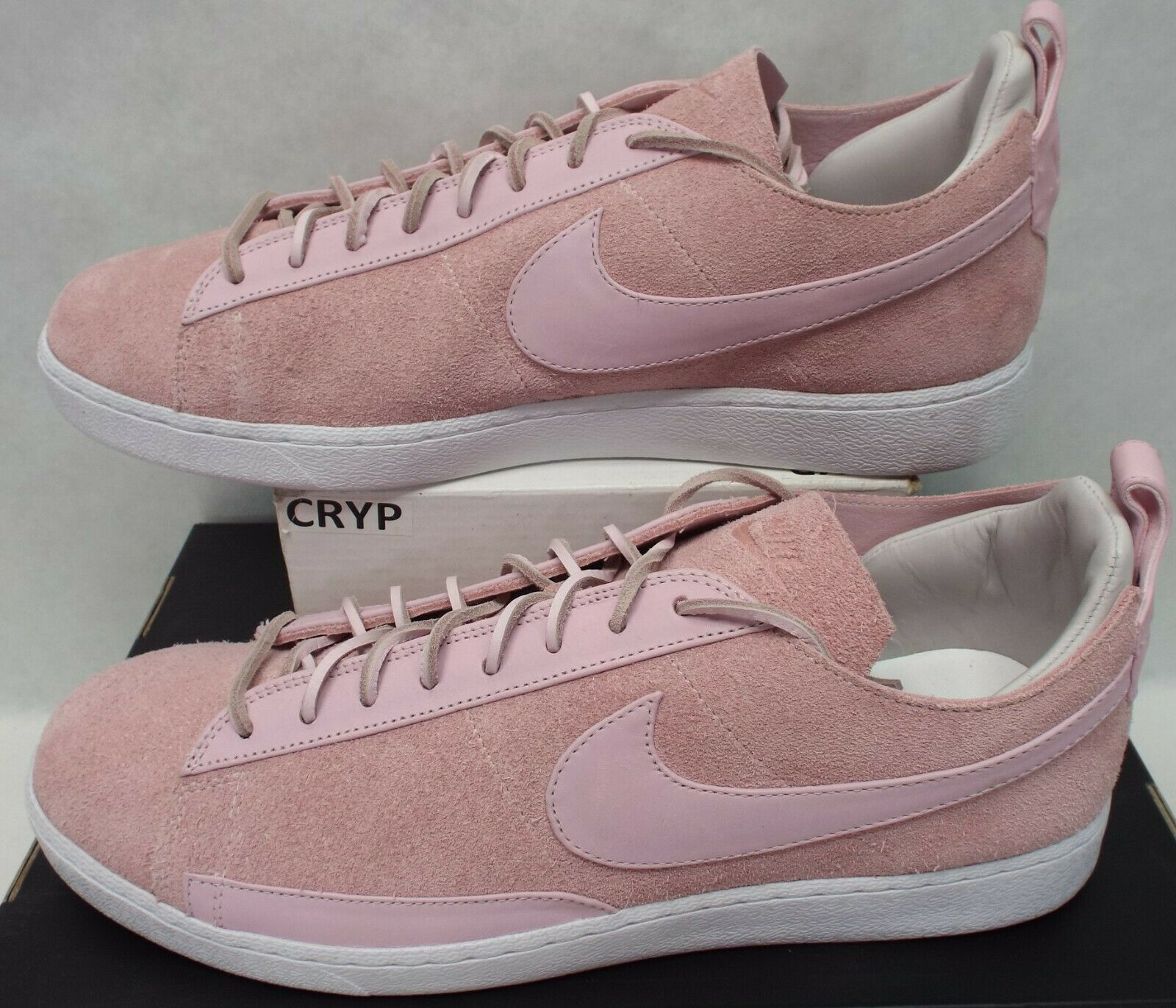 New Mens 13 NIKE Blazer Low CS TC Prism Pink Suede shoes  140 AA1057-600