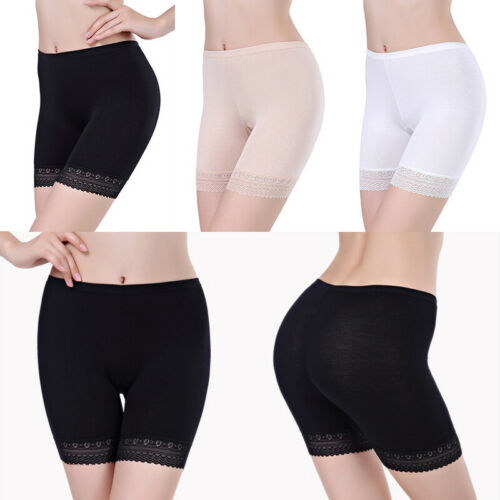 Women Seamless Lace Tiered Skirts Under Safety Pants Soft Nice Shorts Leggings