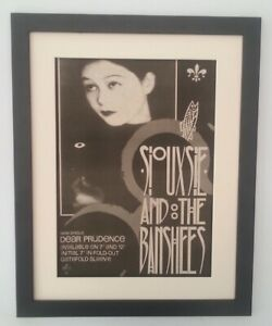SIOUXSIE-BANSHEES-Dear-Prudence-1983-ORIGINAL-POSTER-AD-FRAMED-FAST-WORLD-SHIP