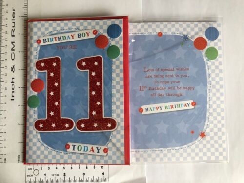 Boy and  Girl 11 11th /& 12 12th Age  Birthday Cards In 12 Designs
