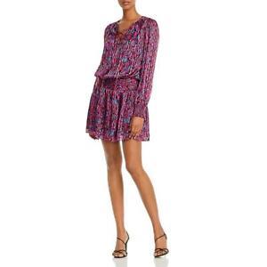 Ramy Brook Womens Gessie Silk Printed Mini Casual Dress BHFO 7959