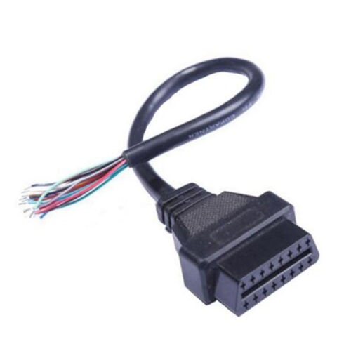 OBDII 16 Pin Female Extension Connector Opening Plug Wire OBD2 Diagnostic Cable