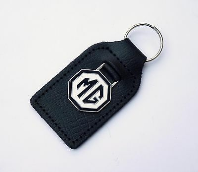 MG Enamel / Chrome Key Ring Fob for Midget, MGA, MGC, MGB GT Midget MGTF etc
