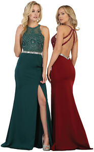 7a4da0085558 Image is loading LONG-SEMI-FORMAL-SPECIAL-OCCASION-PAGEANT-DRESS-SEXY-
