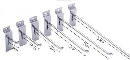 """2/""""4/""""6/""""8/""""10/""""12/"""" Slatwall Hooks Shelves Shop Fittings Shelf Brackets Arms Display"""