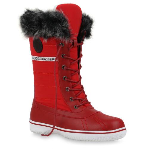 Damen Winterstiefel Stiefel Plateau Winter Boots Schuhe 895811 Trendy