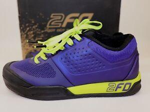 NIB-SPECIALIZED-Size-7-25-EUR-38-Women-039-s-Indigo-Hyper-Green-2FO-FLAT-MTB-Sneaker
