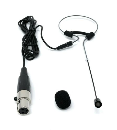 Black Single Earhook Headset Mic Headworn Microphone for VocoPro Wireless