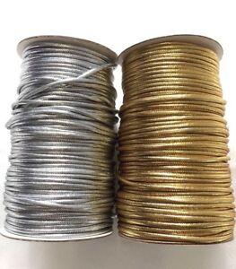 4mm-Metallic-Gold-amp-Silver-Cord-1-2-4-or-8-Meter-Christmas-craft-jewellery-Lurex
