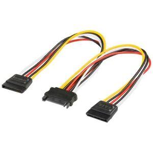 20cm-Internes-PC-Y-Stromkabel-SATA-Kupplung-Verteiler-zu-2x-SATA-Stecker