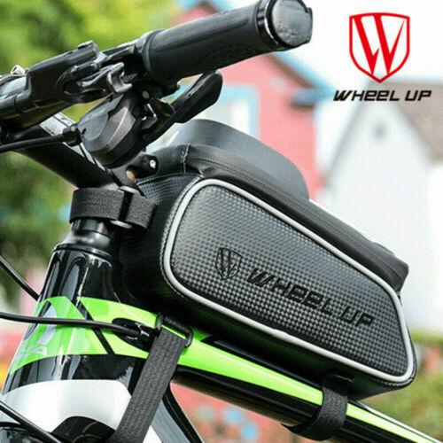 WHEEL UP Bike Bicycle Handlebar Tube Front Phone Bag Waterproof Pouch Holder UK