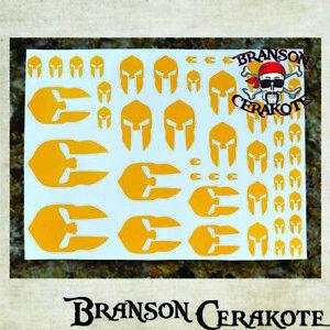 AgréAble Spartan Stencil Feuille | Haute Chaleur Vinyle | Pistolet Fusil Arme à Feu Cerakote Duracoat-afficher Le Titre D'origine