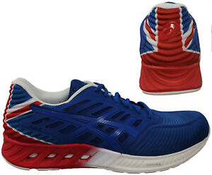 87ae6aba0cfa Asics FuzeX Country Pack Blue Red Lace Up Mens Running Trainers ...