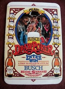 Details about 1986 Anheuser Busch Beer DRAW POKER Scratch Off Sweepstakes  Ticket