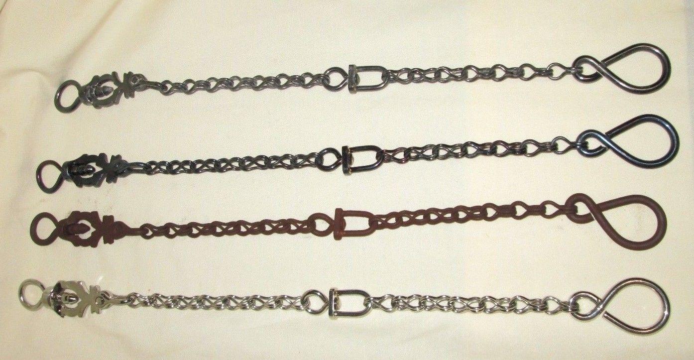 Rienda cadenas Prod.  BBR-11 - 12 pulgadas de largo, Negro, Azul, pátina, De Acero Inoxidable