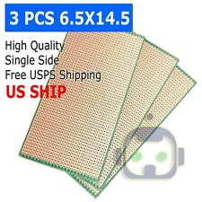 3 Pcs Single Sided Pcb Circuit Proto Perf Board Bakelite Fr 65x145cm Usa Ship