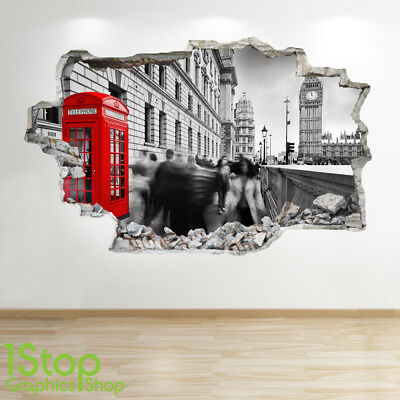 BEDROOM LOUNGE CITY WALL DECAL Z199 SYDNEY OPERA HOUSE WALL STICKER 3D LOOK
