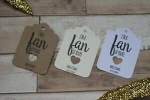 Image Is Loading Personalised Wedding Favour Tags For Fans Abroad Weddings