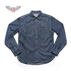NON-STOCK-Wabash-Stripe-Work-Shirt-Vintage-Denim-Railway-WorkShirts-For-Men