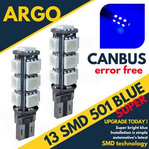 501-Azul-13-LED-T10-W5W-Coche-Canbus-Libre-De-Errores-Xenon-Luz-Lateral-Bombillas-Lampara-12V
