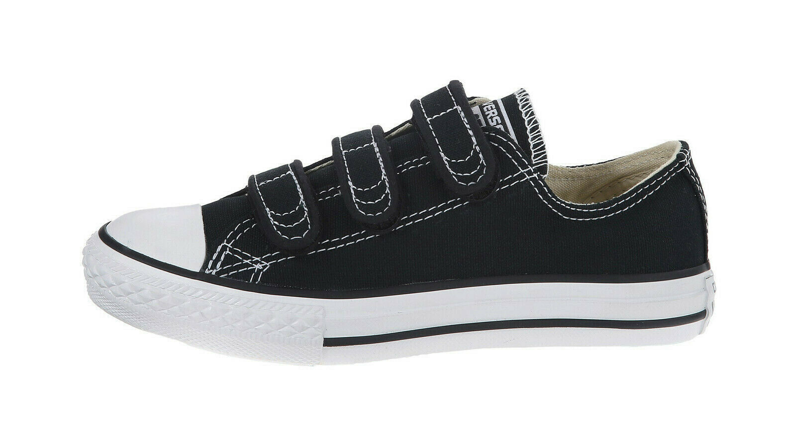 Converse All Star Chuck Taylor Black Shoes Canvas Straps Youth Big Kids Children