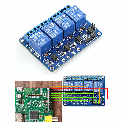 5V 4 Channel Relay Module for Arduino PIC ARM DSP AVR Raspberry Pi