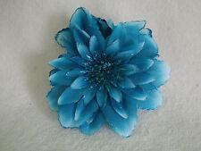 Womens blue glitter big flower hair claw hair clip hair fashion accessory