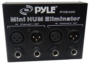 Pyle-PHE400-Hum-Noise-Eliminator-2-Channel-Box-with-1-4-039-039-amp-XLR-Jacks
