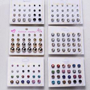 12Pairs-Set-Cz-Zircon-Crystal-Rhinestone-Ear-Stud-Earrings-Fashion-Women-Jewelry