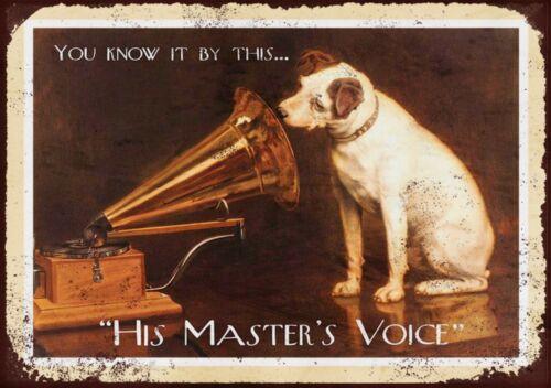 His Masters Voice Métal Mural Signe