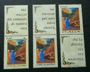 [SJ] Vatican Italy San Marino Joint Issue Language Painting 2009 (stamp) MNH