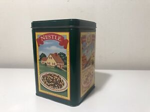 """Nestle Limited Edition Tin Can Toll House Cookie Pie Party Mix Green 6"""" Vintage"""