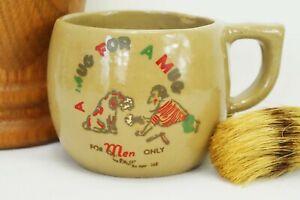 Shop Stylish Old Barber Shop Mug With Brush, Humorous