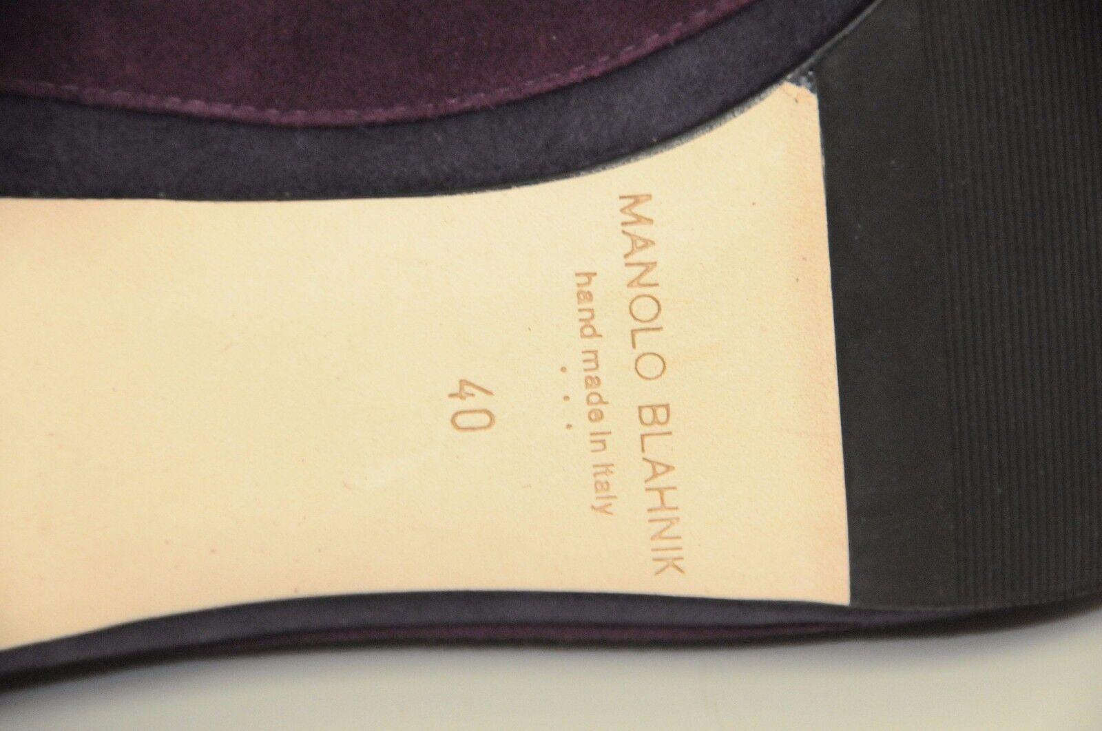 825 825 825 NEW Manolo Blahnik SFIDA BB 50 Newcio violetc violet chaussures Kitten Heels 40 1a4123