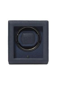 WOLF CUB Single Watch Winder with Cover in NAVY for Watches up to 52mm Diameter