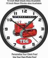 International Td6 Wall Clock- Usa Ship-farmall, John Deere