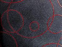 Ferrecci Tie Necktie Black Red Circles Bubbles With Tag Geometric
