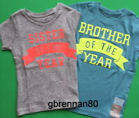 Brother Sister Of The Year Big Little Shirt 2t 3t 4t 5t 4 5 Kids Boy Girl