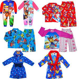 BNWT PAW PATROL FLANNEL COTTON BLUE PYJAMAS SLEEPWEAR SIZE 1 TO 5