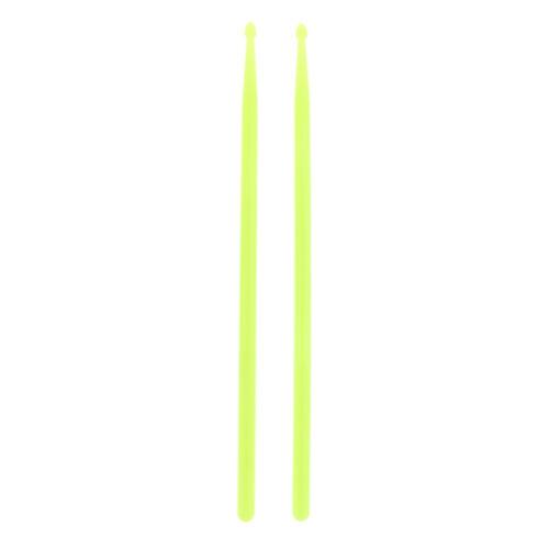 Feinste 2x 5A Polyester Faser Drum Sticks leuchten im Dunkeln für Drum