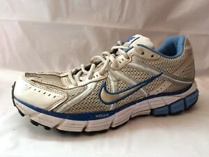 3e1e26617f8 Nike Air Pegasus 29 Womens 9 M 324493-191 White Blue Silver Shoe ...