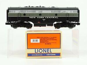 O Gauge Lionel 6-34512 NYC New York Central 3-Rail F7 Diesel B-Unit 2439 w/ TMCC