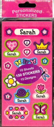 150 stickers//15 designs Factory Packaged SARAH Personalized Stickers