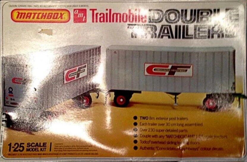 Matchbox AMT 1 25 Trailmobile Double Traliers